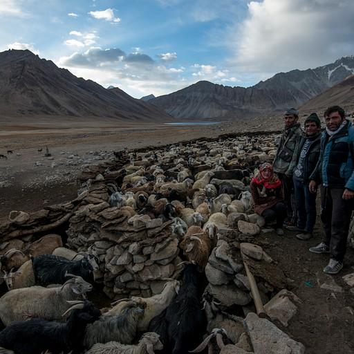 מחנה הרועים לפני האגם השלישי