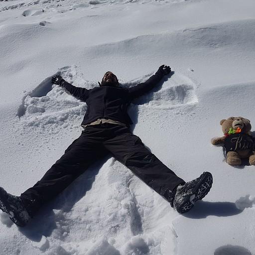 עושים מלאכים בשלג של הפס השני