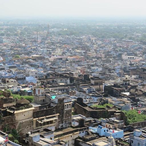 תצפית על העיר ממבצר Taragarh