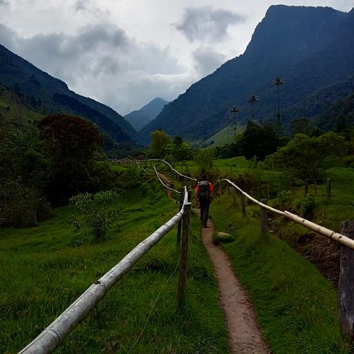 תחילת המסלול בעמק