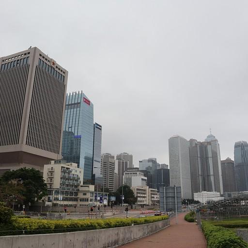קו האופק של הבניינים מאחד הפארקים שמגיעים אליהם בסיור.