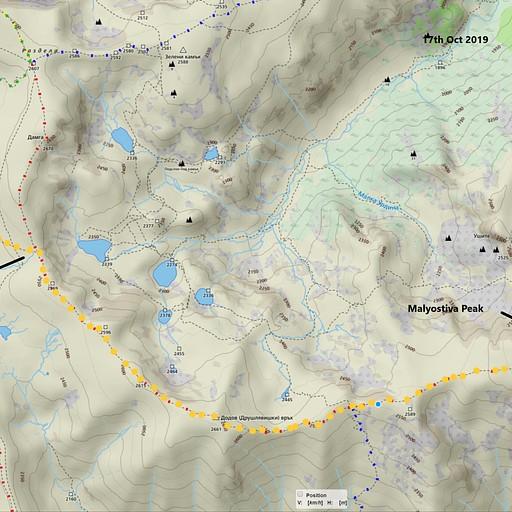מבקתת מליוביצה לכיוון איוון ואזוב  עליה לפסגה היא במסלול של 20 דקות הלוך חזור עליה של 30 מטר מצטברת