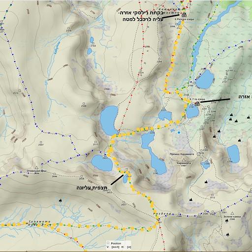 עליה בשבעת האגמים המתוכננת במסלול הכחול צהוב