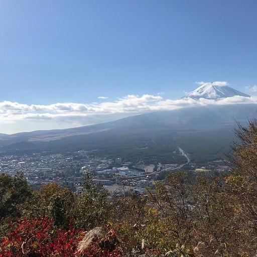 הר פוג'י - הנוף מהתצפית כשיורדים מהרכבל