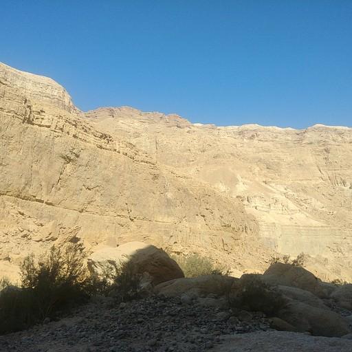 קירות הקניון מעל עין אשד (כ-300 מ' גובה)