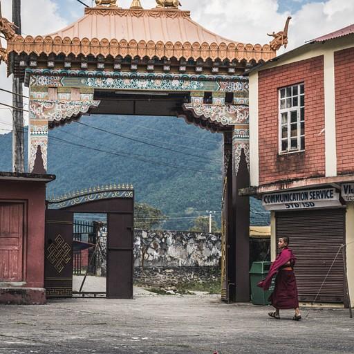 המנזר הבודהיסטי במחנה הפליטים