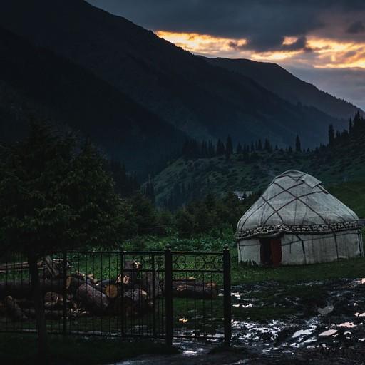 ערב יורד על הכפר
