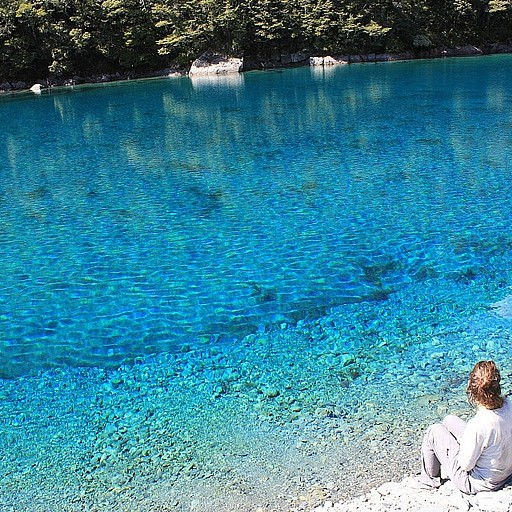 Blue lake, המים הצלולים ביותר בעולם