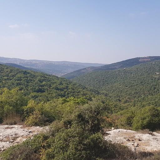 נוף לכיוון השמורה ובית ג'אן