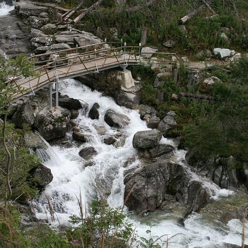 Hrebienok falls