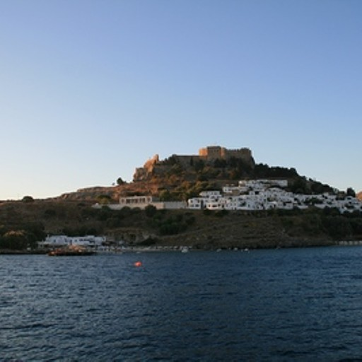 המבצר של לינדוס - מראה מהים