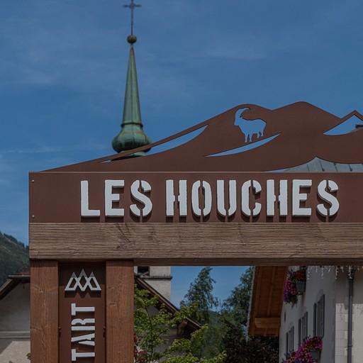 השלט של תחילת ה TBM בעיירה les houches