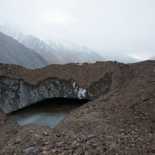 חציית קרחון לפני הירידה לאגם הגדול
