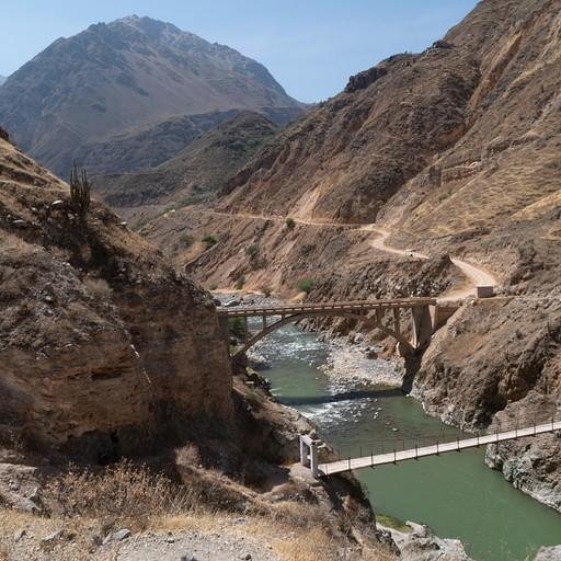 שני הגשרים לחציית הנחל, רגלי ורכוב