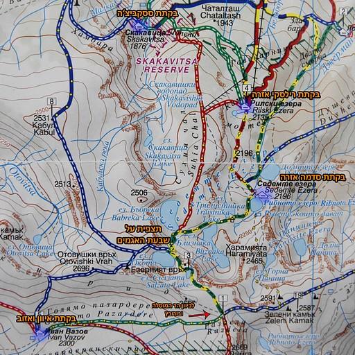 מפת האזור המתואר