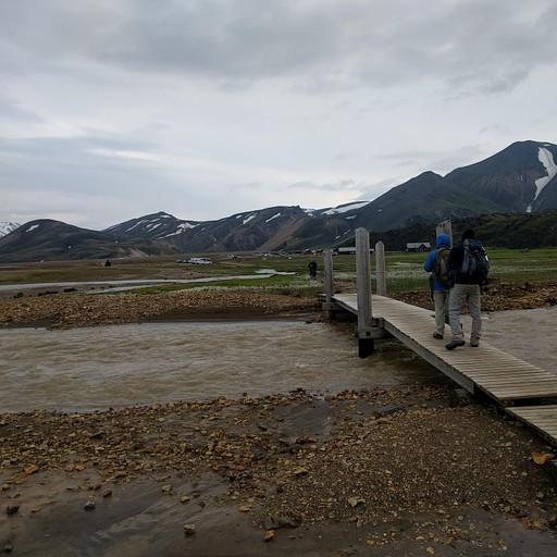 מעבר הנהר לאתר הקמפינג/התחלת המסלול