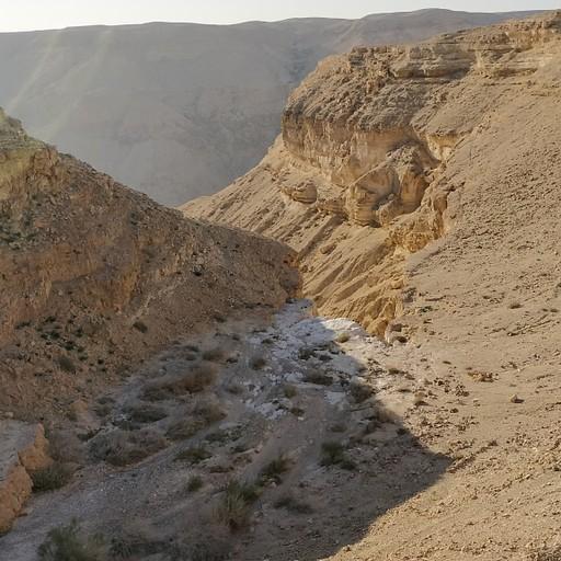 נחל חלמיש מעל המפל הענק