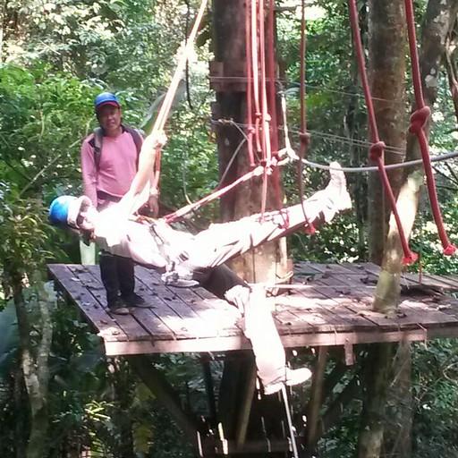״גשר עכביש״ בפארק האומגות